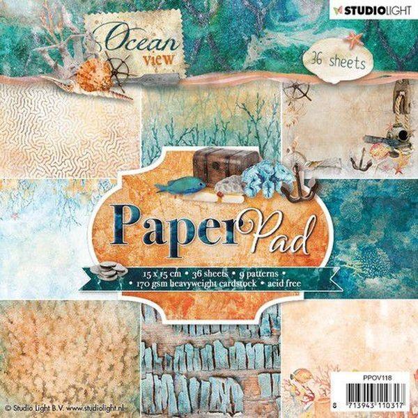 Studio Light Ocean View Paper Pad 6x6 No. 118