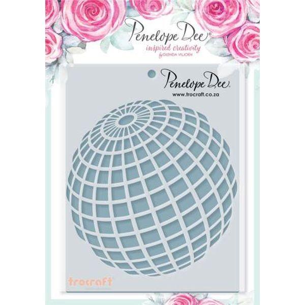Penelope Dee Stencil Go See Do Globe