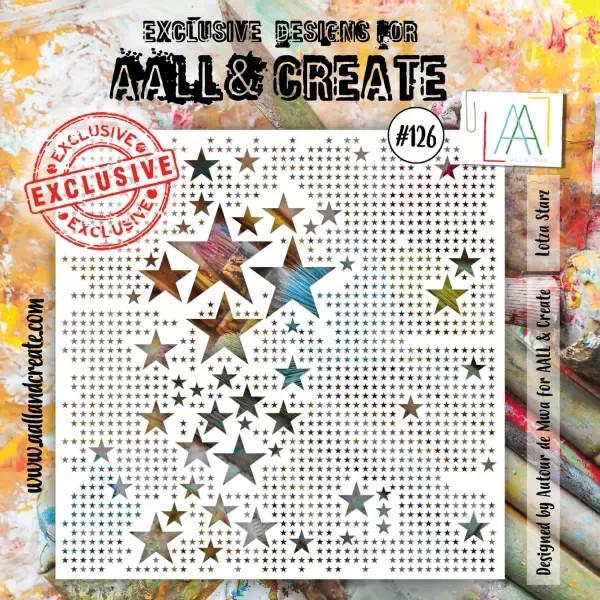 AALL & Create Stencil 6x6 No. 126 Lotza Starz