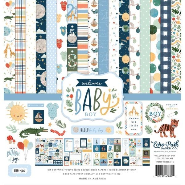 Echo Park Welcome Baby Boy Collection Kit