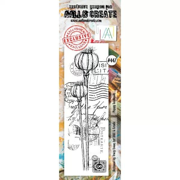 AALL & Create Border Clearstamps No. 447 Poppy Seedheads