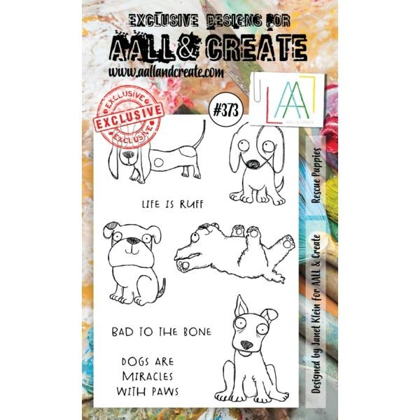 AALL & Create Clearstamps A6 No. 373 Rescue Puppies