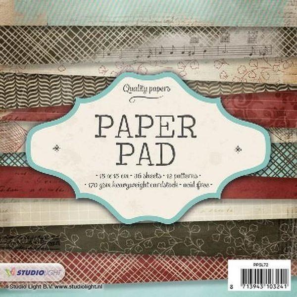 Studio Light Paper Pad 6x6 No. 72