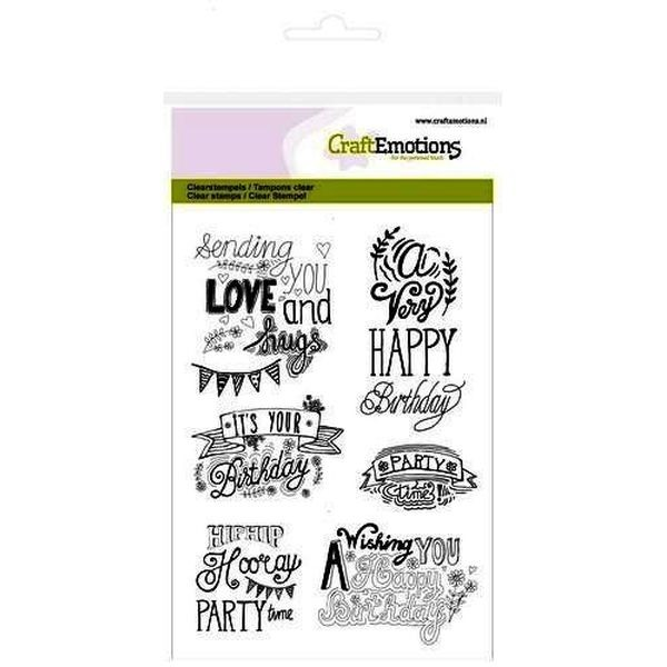 Craft Emotions Clearstamps Handlettering Birthday