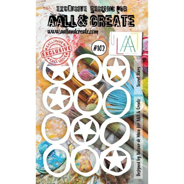 AALL & Create Stencil A6 No. 102 Secret Stars