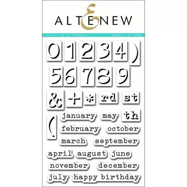 Altenew Clearstamps 4x6 Invisible Numbers