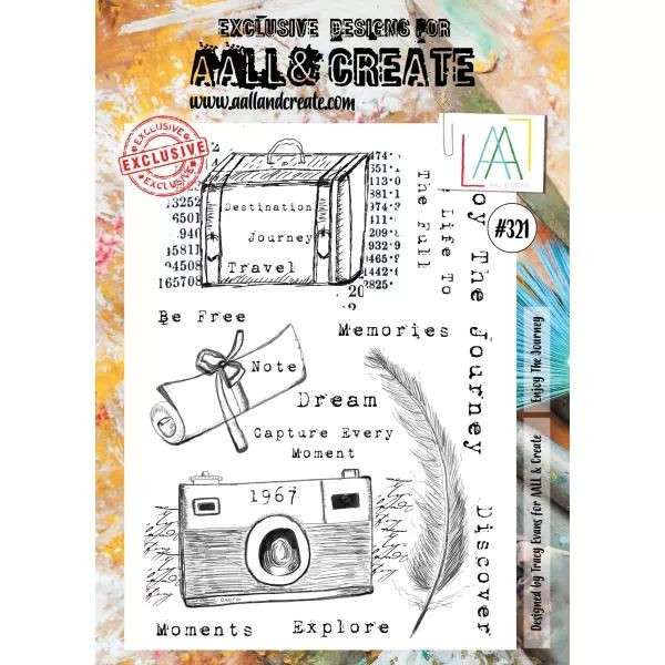AALL & Create Clearstamps A4 No. 321 Enjoy the Journey