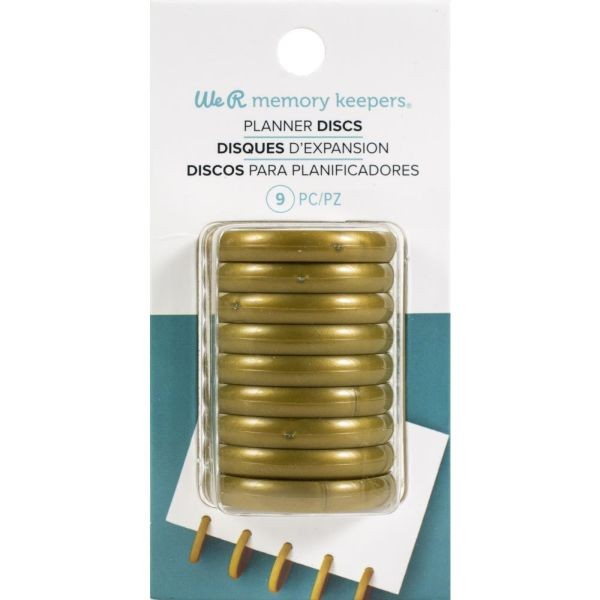 WeR Memory Keepers Power Punch Tool - Planner Discs Gold