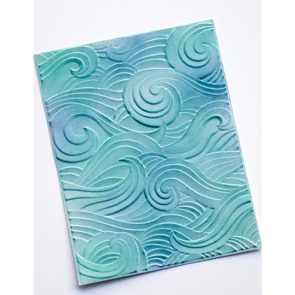 Memory Box 3-D Embossingfolder Waves