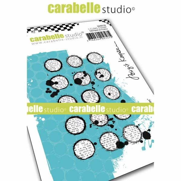 Carabelle Studio Tampon Art Stamp A7 Inky Circles