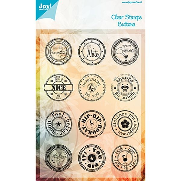 Joy! Crafts Clear Stamps Button Text