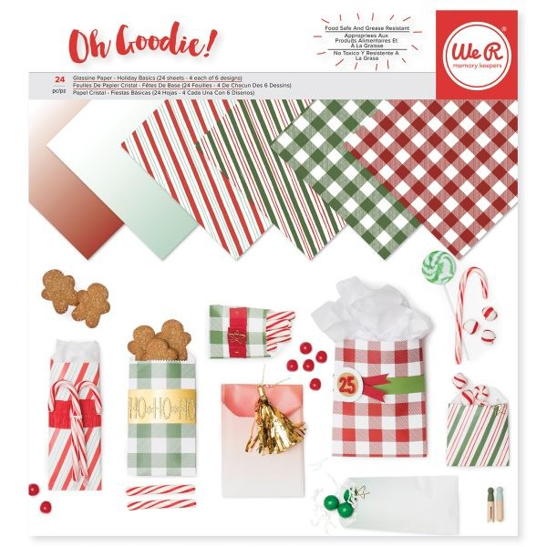 WeR Memory Keepers Glassine Paper Pack Holiday Basics 12x12