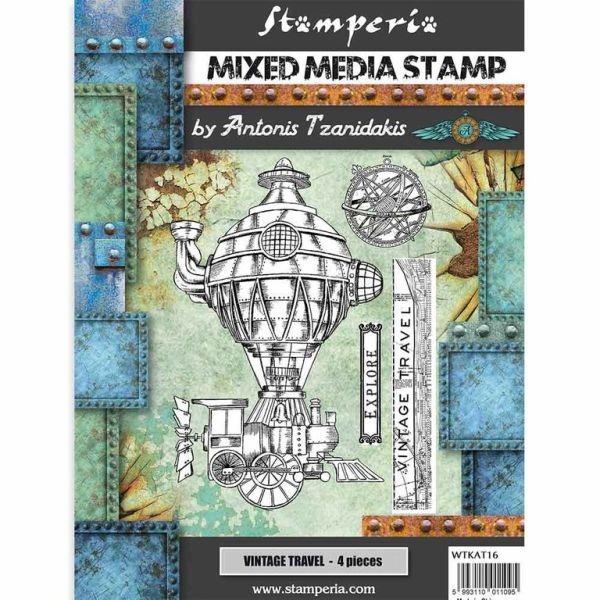 Stamperia Mixed Media Stamp Sir Vagabond Vintage Travel