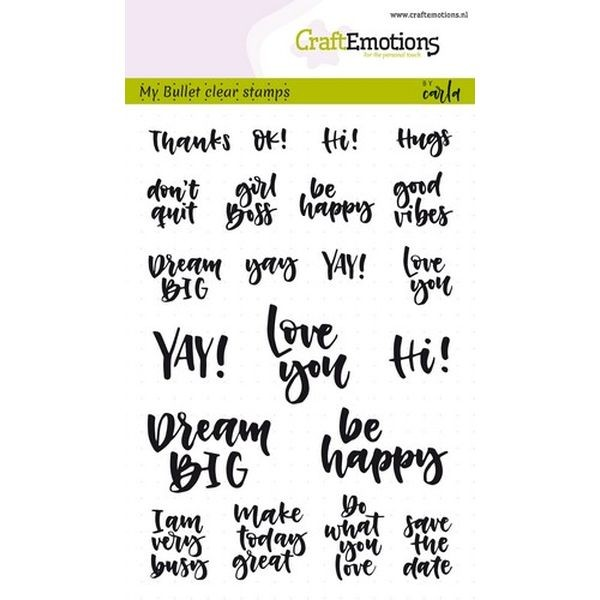 Craft Emotions Clearstamps Handlettering Bullet Journal Quotes
