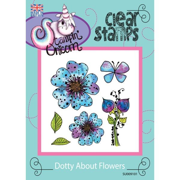 Stampin´ Unicorn Clearstamps Dotty About Flowers