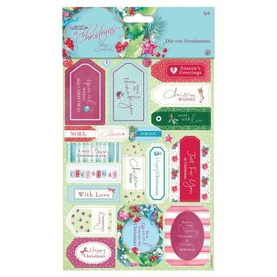 Papermania Lucy Cromwell At Christmas Die-Cut Sentiments