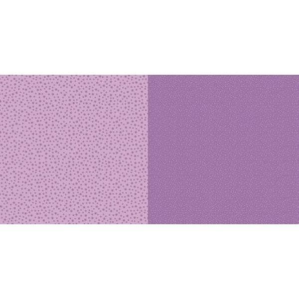 Dini Design Scrapbook-Papier Punkte & Blumen Veilchenlila