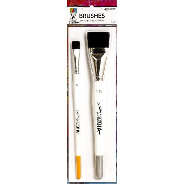 Dina Wakley Media Stiff Bristle Brush-Set