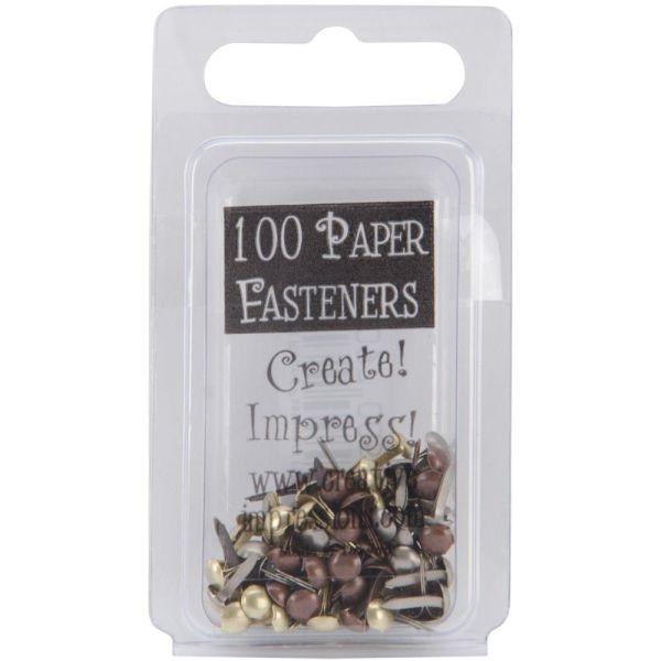 Creative Impressions Mini Metal Paper Fasteners Antique