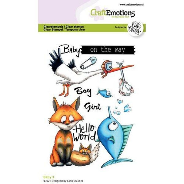 Craft Emotions Clearstamps Baby II