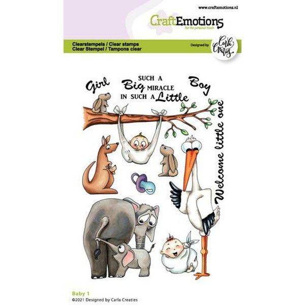 Craft Emotions Clearstamps Baby I