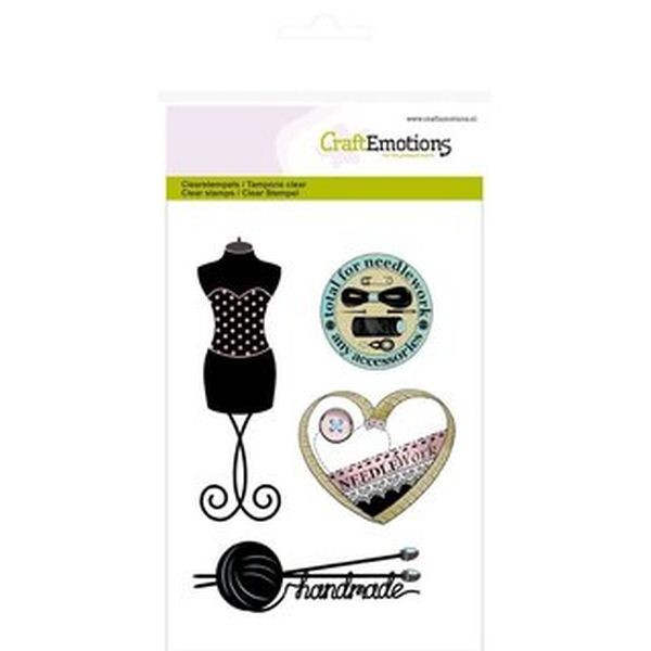 Craft Emotions Clearstamps Couture Mannequin