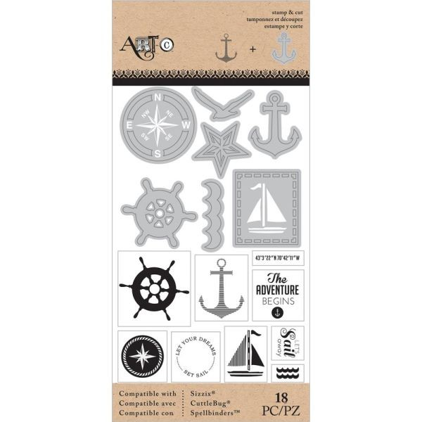 Momenta Art-C Stamp & Die Set Nautical