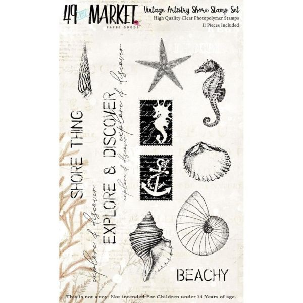 49 and Market Vintage Artistry Shore Clearstamps
