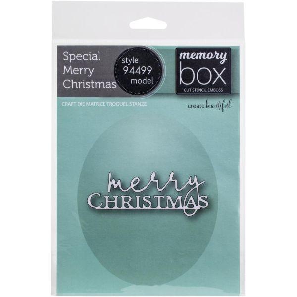 Memory Box Craft Die Special Merry Christmas