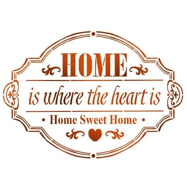Stamperia Stencil 15x20 Home is where the Heart is