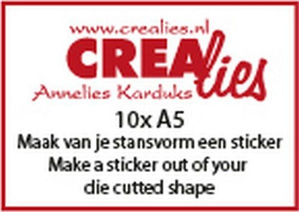 CreaLies Basics Make a Sticker out of your Die-cutted-Shape A5