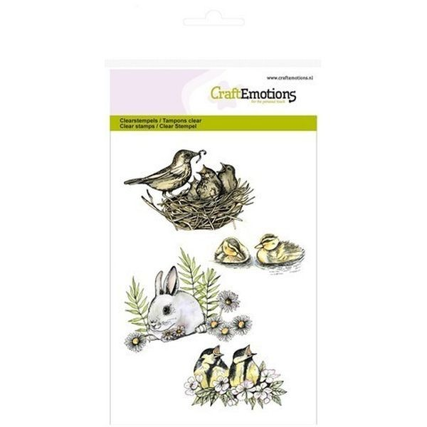 Craft Emotions Clearstamps Birds & Rabbit