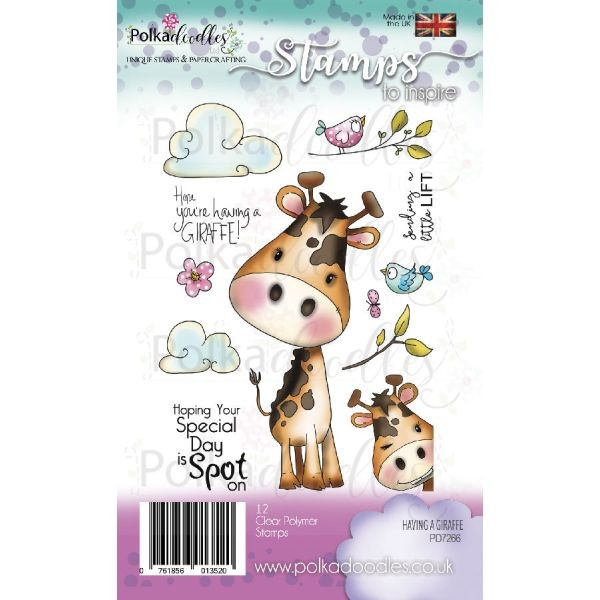 Polkadoodles Clearstamps Having a Giraffe