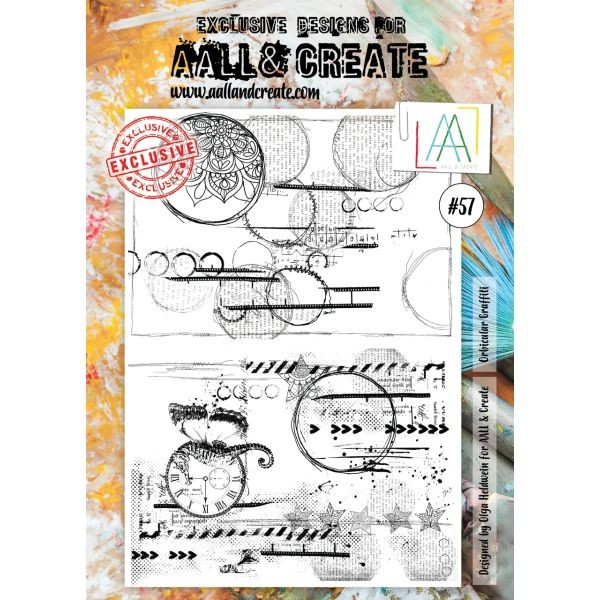 AALL & Create Clearstamps A4 No. 57 Orbicular Graffiti
