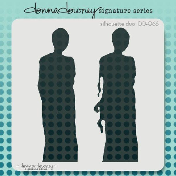 Donna Downey Stencil 8x8 Silhouette Duo