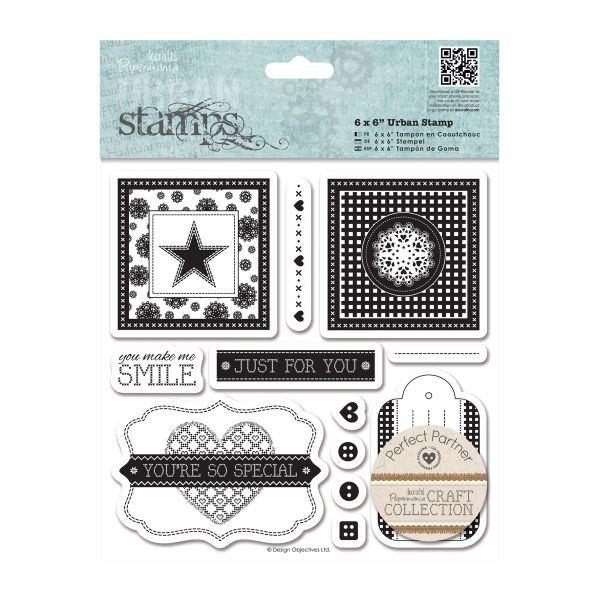 Papermania Craft Collection Urban Stamps 6x6