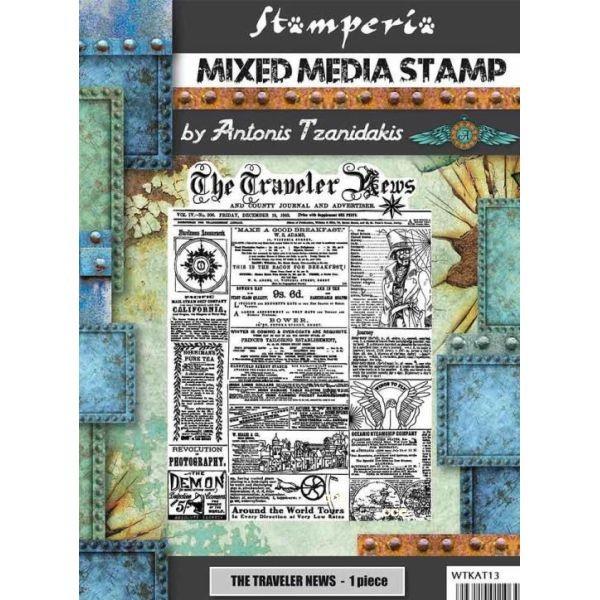 Stamperia Mixed Media Stamp Sir Vagabond The Traveler News
