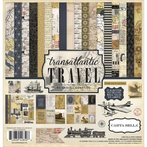 Carta Bella Transatlantic Travel Collection Kit 12x12