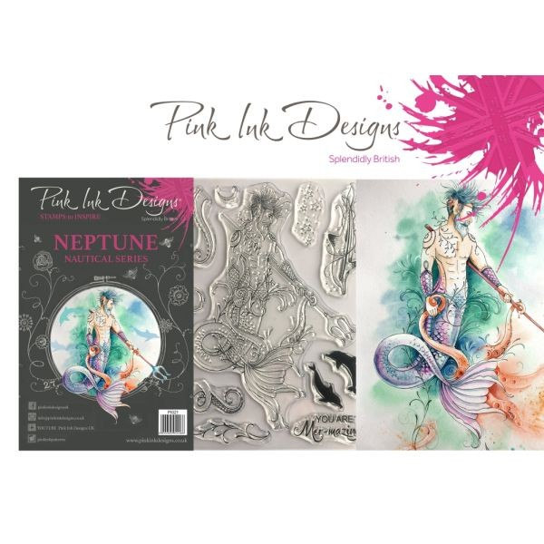 Pink Ink Designs Clearstamp Set Neptune