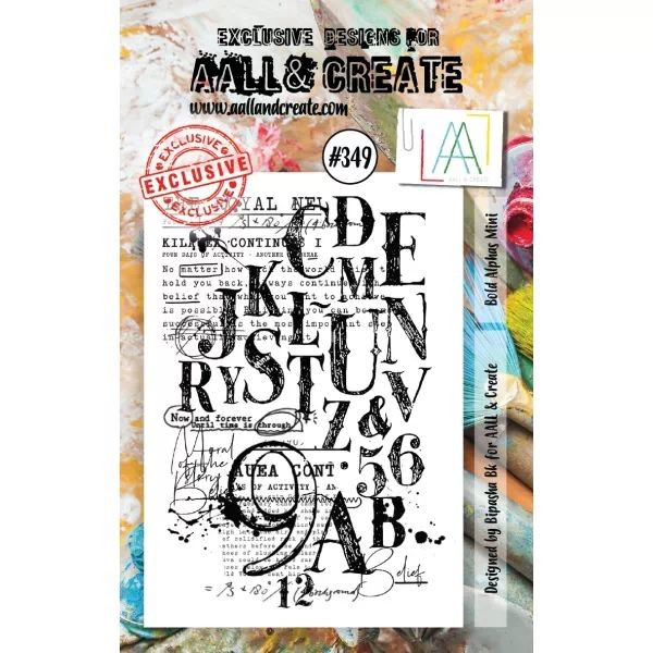 AALL & Create Clearstamps A7 No. 349 Bold Alphas Mini