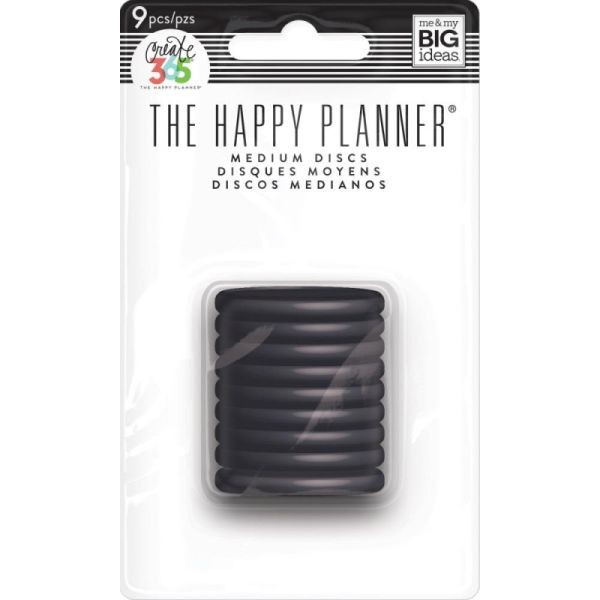 The Happy Planner Discs Medium Black