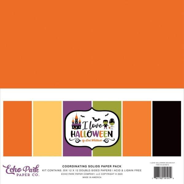 Carta Bella I Love Halloween Coordinating Solids Paper Pack
