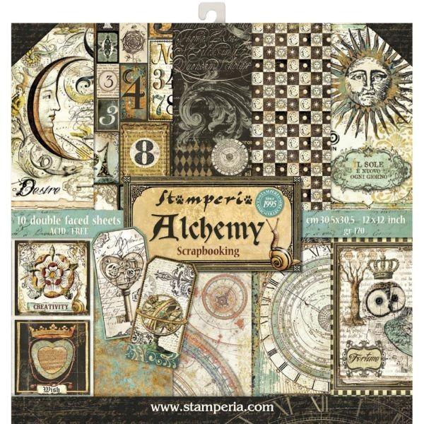 Stamperia Paper Pad Alchemy 12x12