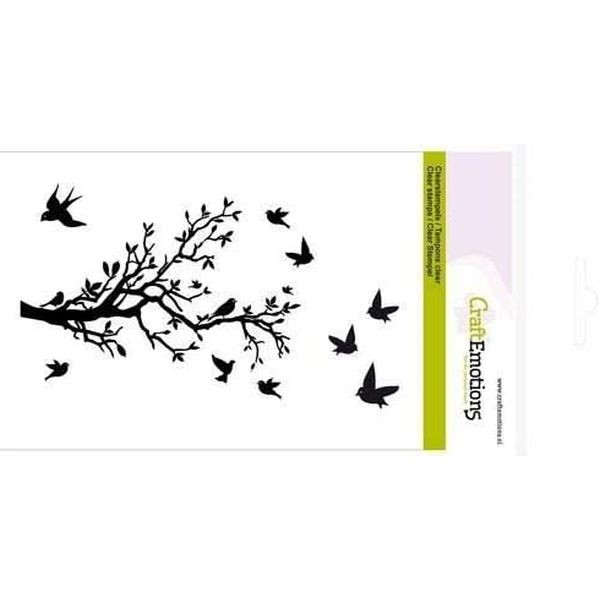 Craft Emotions Clearstamps Branch with Birds