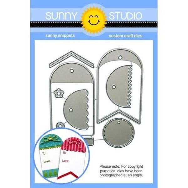Sunny Studio Stamps Dies Build a Tag No. 1