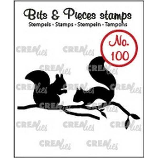 CreaLies Bits & Pieces Clearstamps No.100 Squirrels