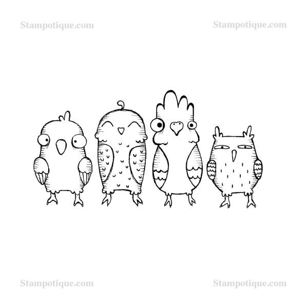 Stampotique Originals Birdy up