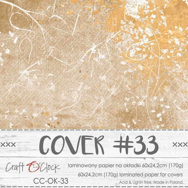 Craft o´Clock Specially Coated Paper Cover No. 33
