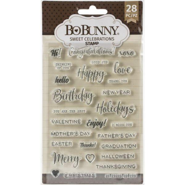 BoBunny Press Essentials Stamps Sweet Celebration
