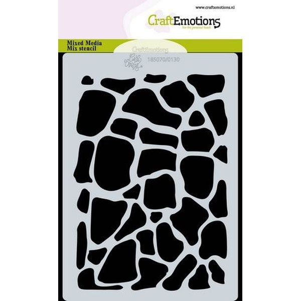 Craft Emotions Stencil A6 Giraffe